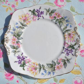 Paragon Country Lane English Fine Bone China Square Bread or Cake Plate c.1957+
