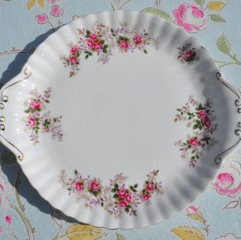Royal Albert Lavender Rose Cake Plate c.1960s