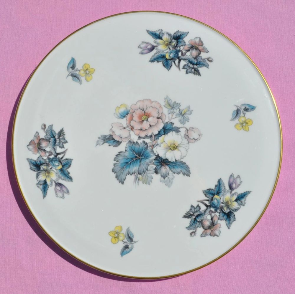 Royal Worcester Vintage Floral Bone China Gateau Celebration Cake Plate