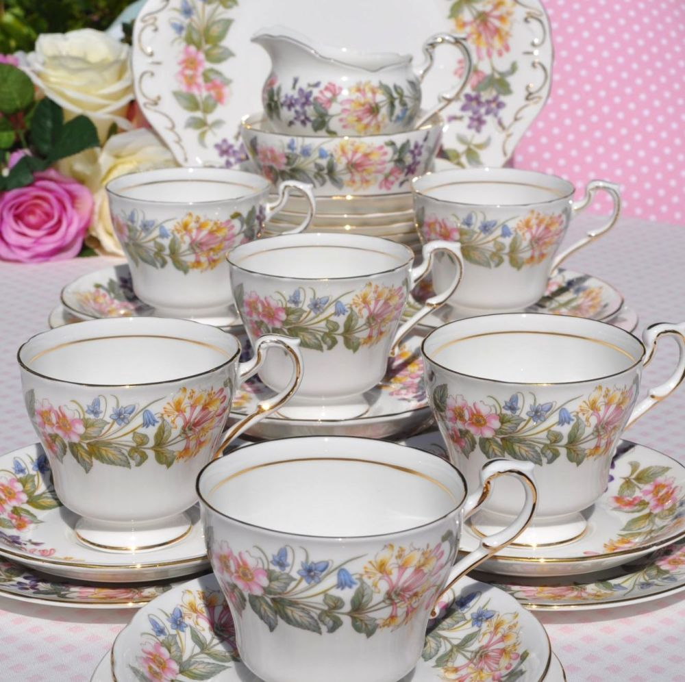 Paragon Country Lane Vintage China 27 Piece Tea Set for Six