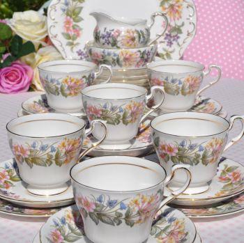 Paragon Country Lane Vintage China 27 Piece Tea Set for Six