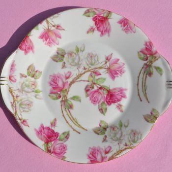 Aynsley China Elizabeth Rose Pattern Cake Plate