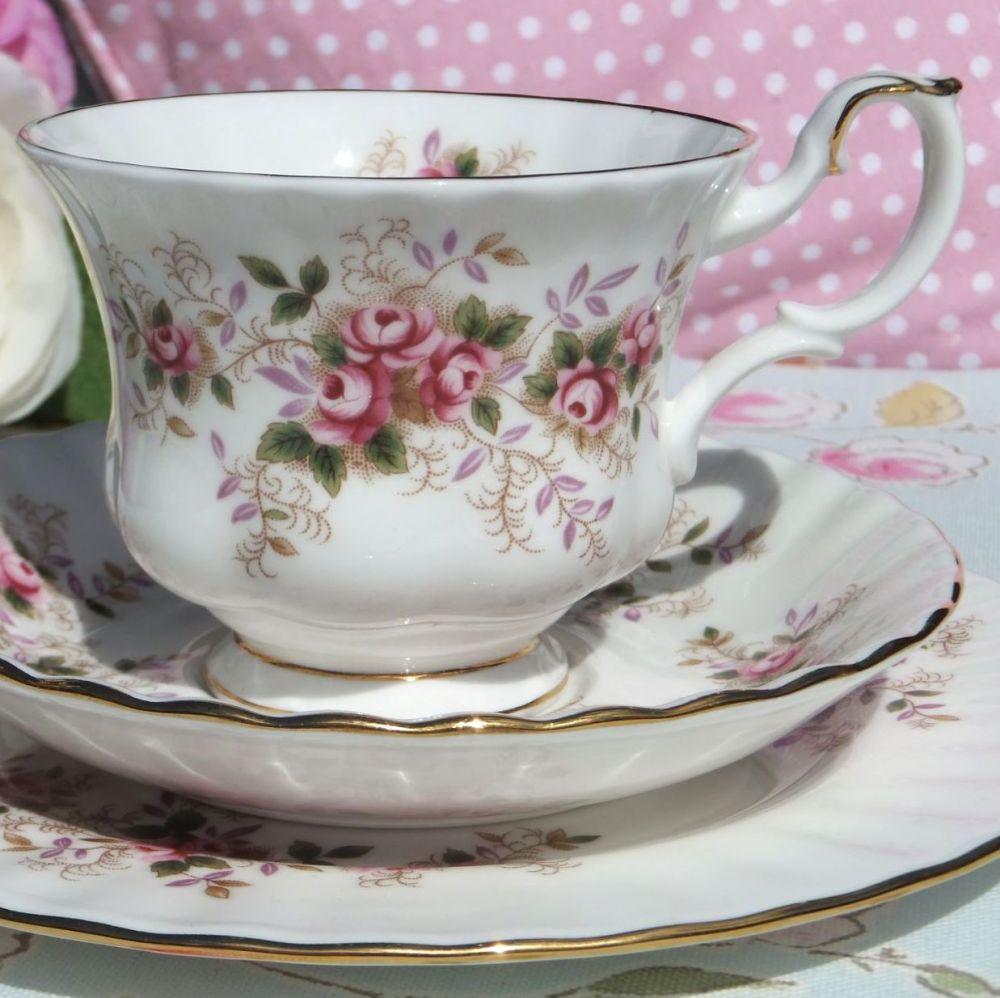 Royal Albert Lavender Rose Vintage Tea Cup Trio c.1960s