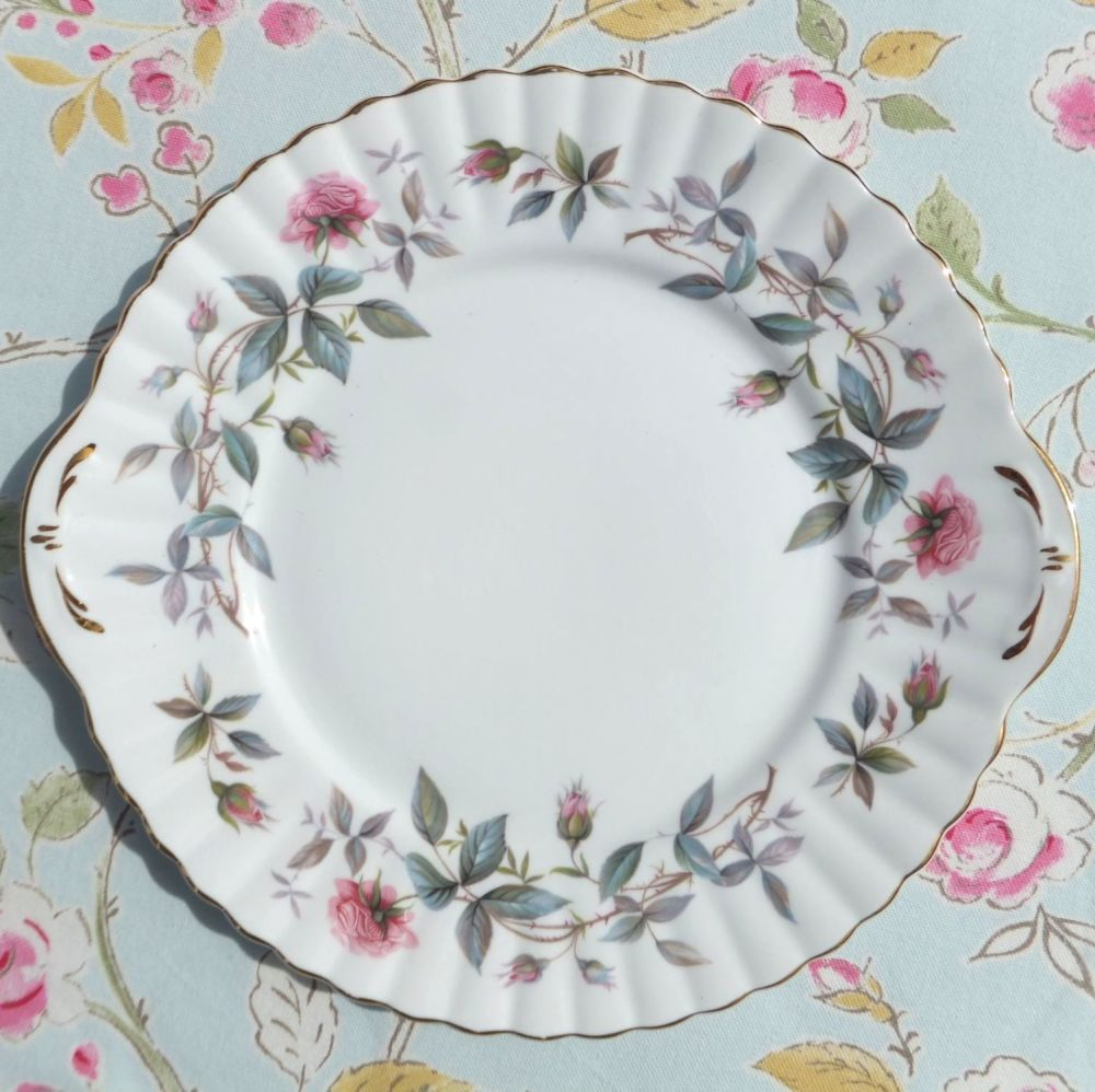 Royal Stafford Bramble Rose Vintage Bone China Cake Plate