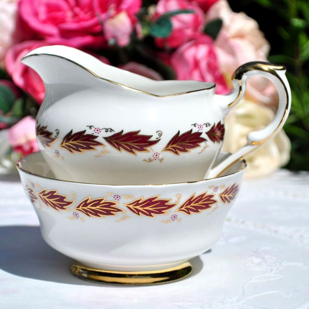 Paragon Elegance Sugar Bowl and Milk Jug