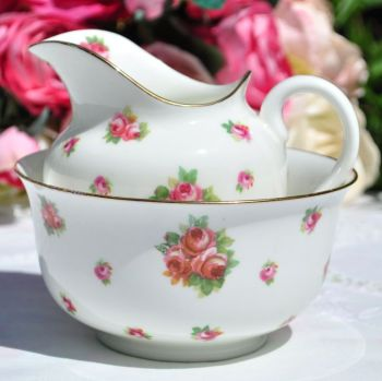 Royal Doulton Scattered Roses Milk Jug and Sugar Bowl