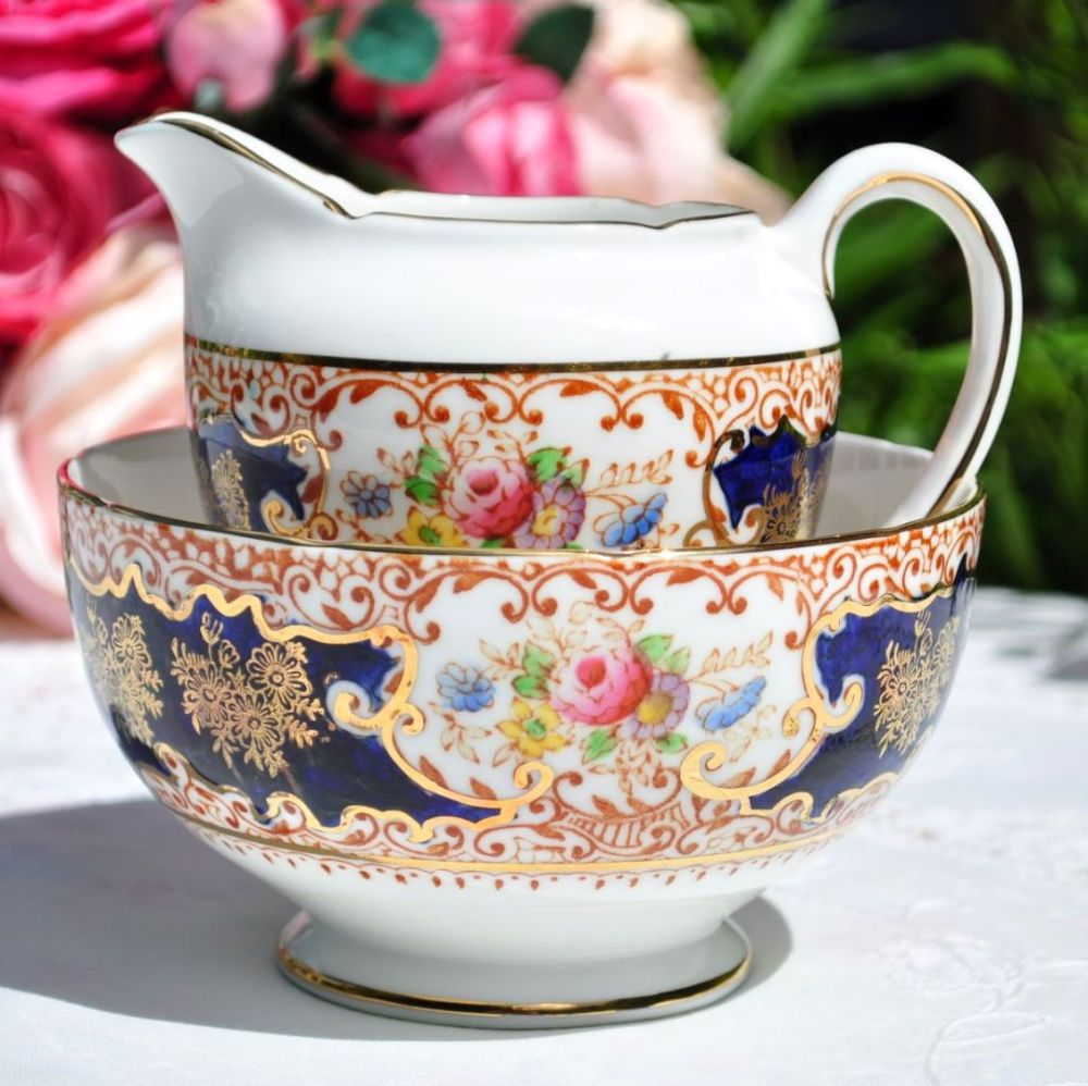 Salisbury Floral Imari Milk Jug and Sugar Bowl