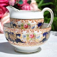 Salisbury Floral Imari Milk Jug and Sugar Bowl