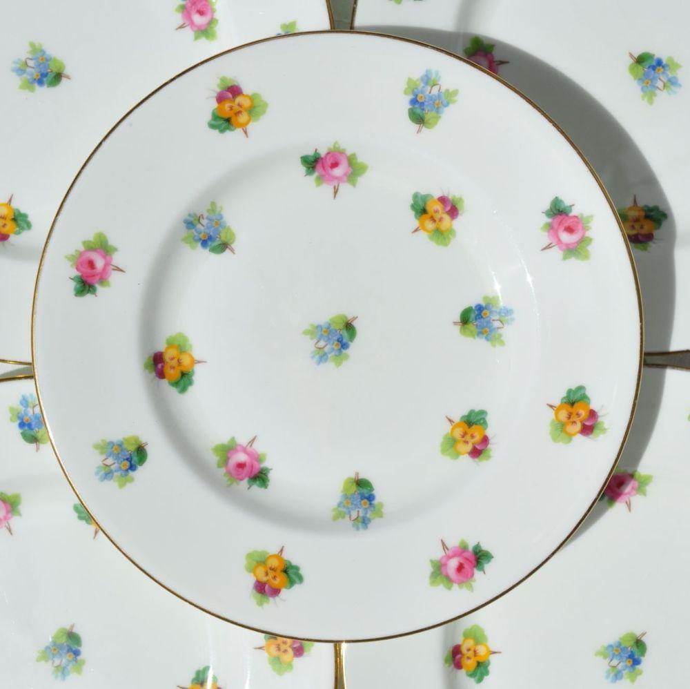 Mintons Scattered Flowers Tea Plates Set