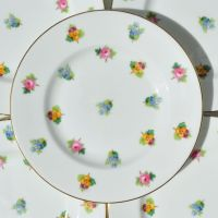 Mintons Scattered Flowers Tea Plates Set