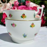 Mintons Scattered Flowers Milk Jug and Sugar Bowl