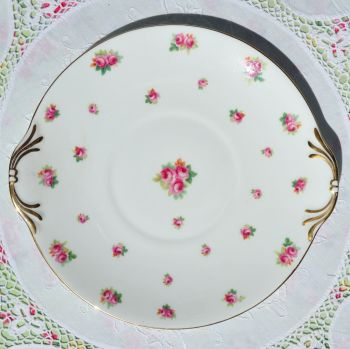 Royal Doulton Scattered Roses Cake Plate