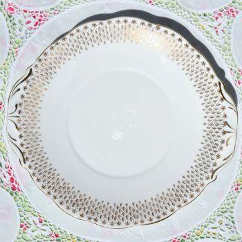 Queen Anne Golden Raindrops Cake Plate