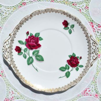 Royal Standard Red Velvet Cake Plate c.1949