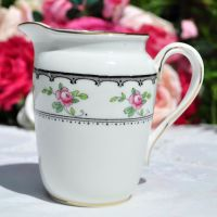 Tuscan Antique Pink Roses Milk Jug c.1910