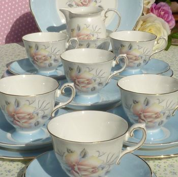 Royal Grafton Mayfair Fine Bone China Vintage Tea Set c.1950's