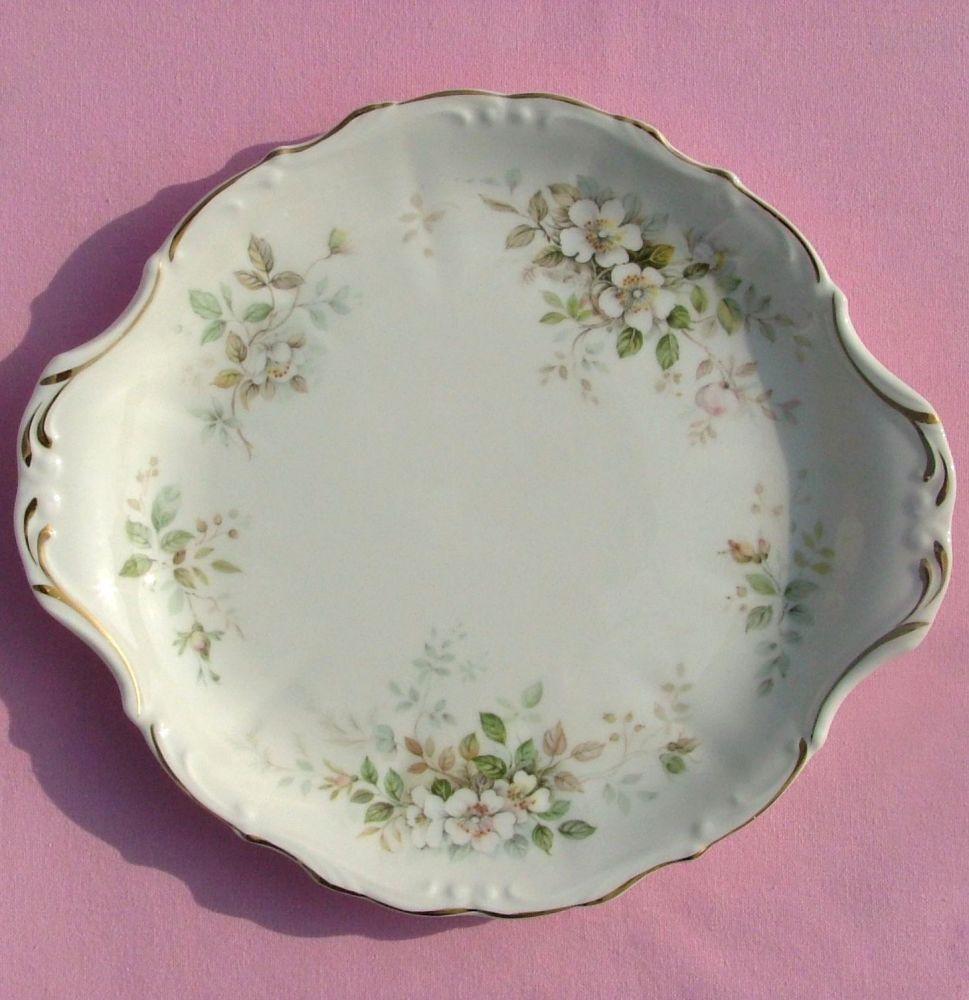Royal Albert Haworth Vintage Bone China Cake Plate c.1982+