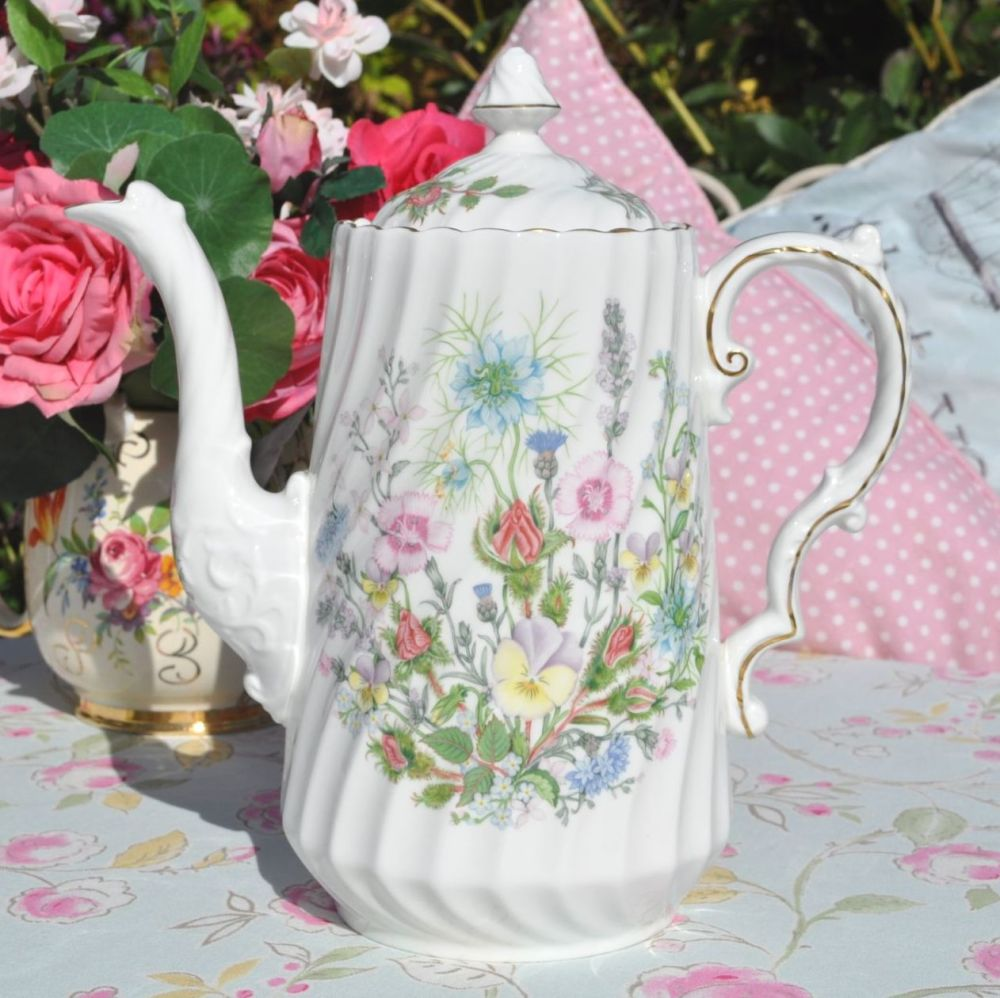 Aynsley Wild Tudor Large Floral Tall 2.5 Pint Teapot