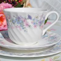 Wedgwood Angela Pastel Floral Teacup Trio English Bone China