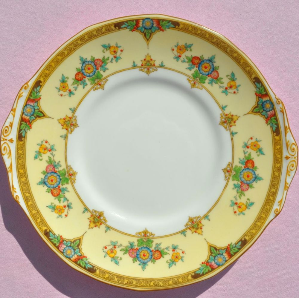 Mintons Eloise Pattern No.702577 Hand Painted Fine Bone China Cake Plate