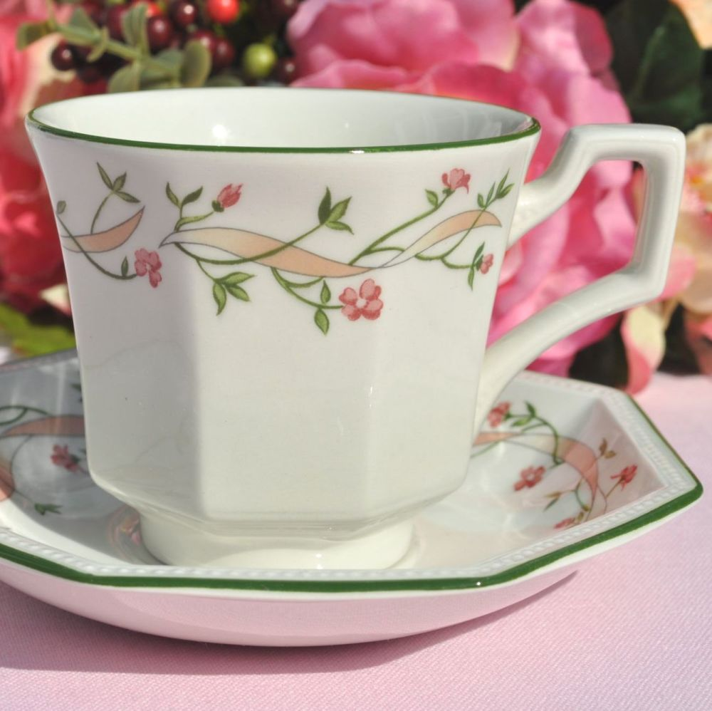 Johnson Bros. Eternal Beau Pattern Teacup and Saucer