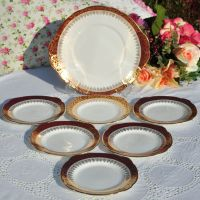 Duchess Winchester 7 Piece Cake Serving Set c.1960s
