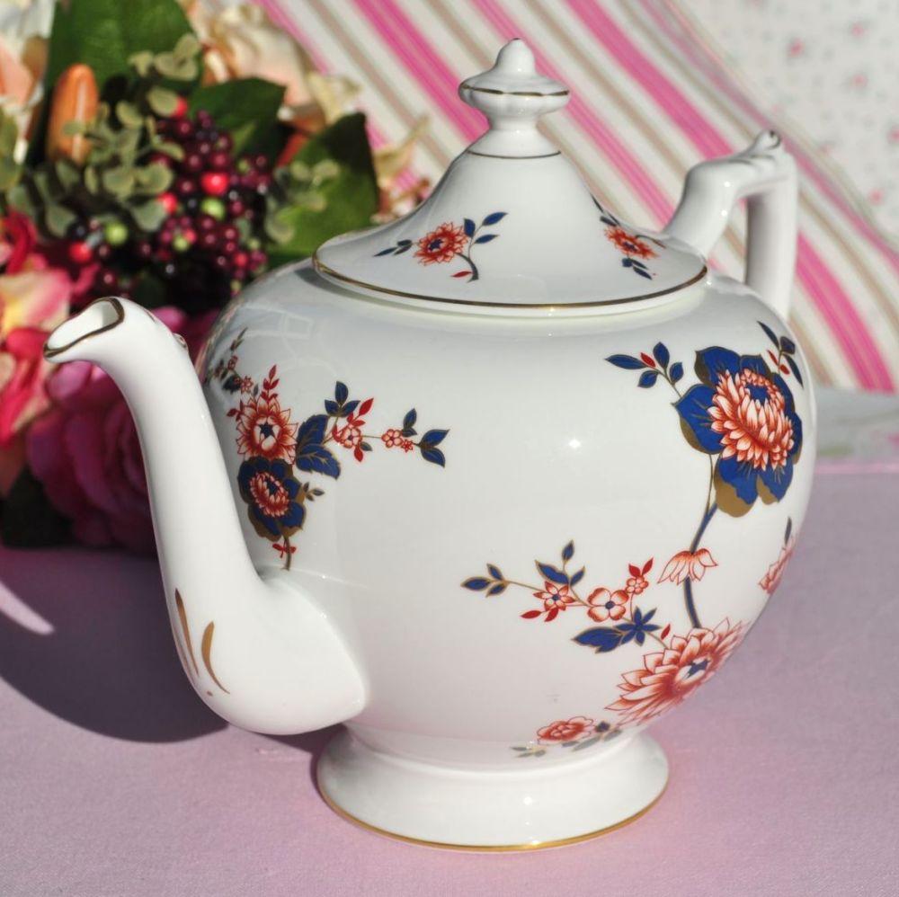 Coalport Khotar Imari Style Vintage Large Bone China Teapot