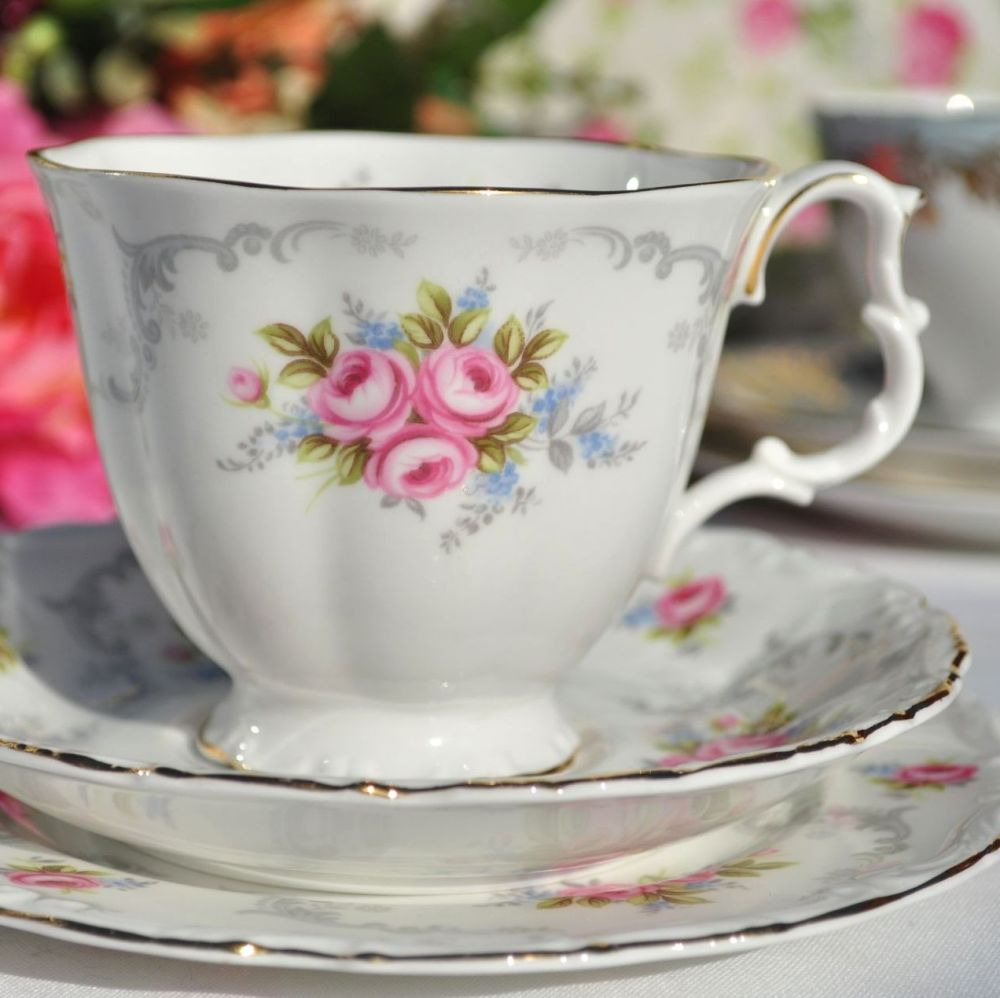 Royal Albert Tranquillity Vintage China Teacup Trio c.1970s