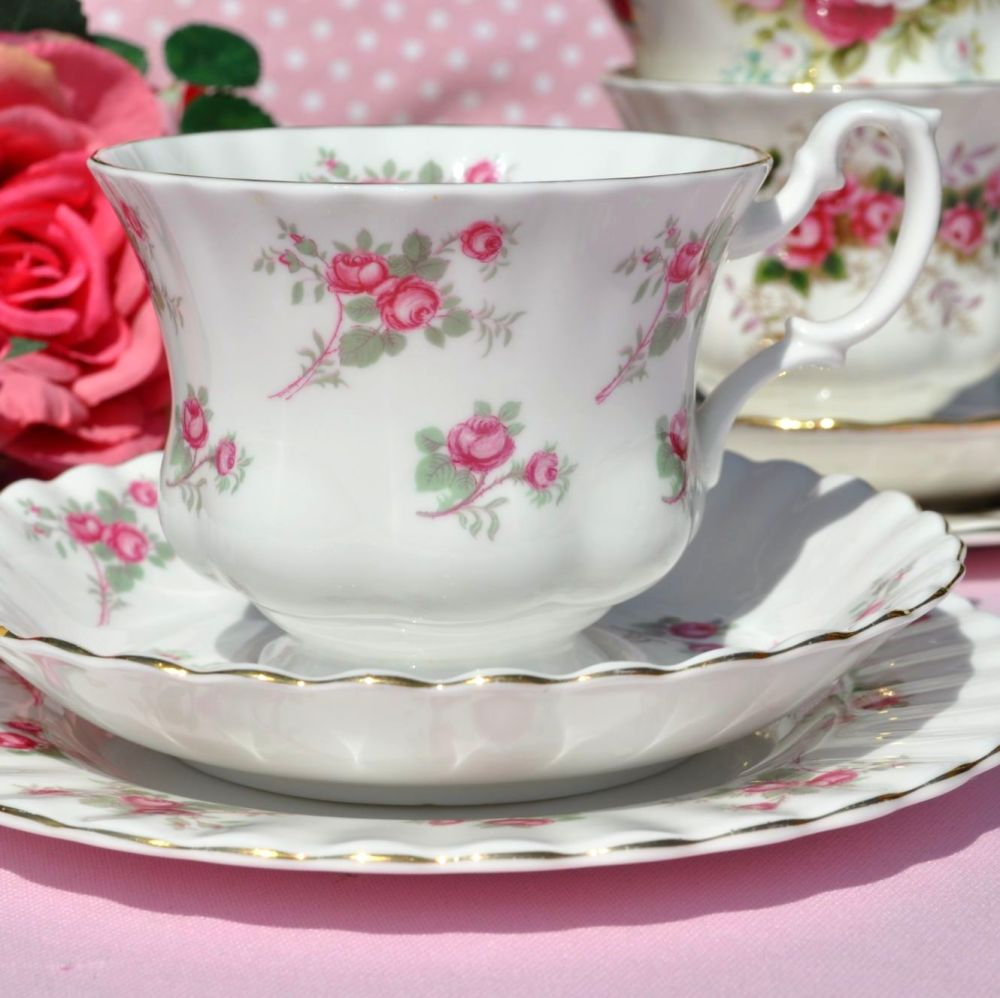 Richmond Rose Time Vintage China Teacup Trio