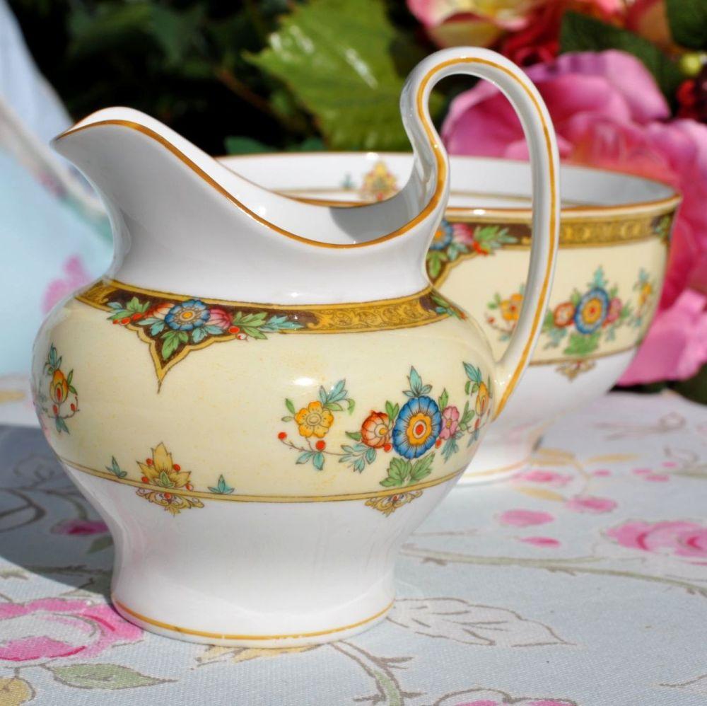 Mintons Eloise Pattern No.702577 Milk Jug and Sugar Bowl