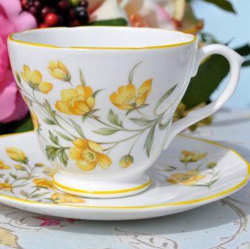 Royal Burlington Buttercup Pattern Teacup and Saucer c.1960s