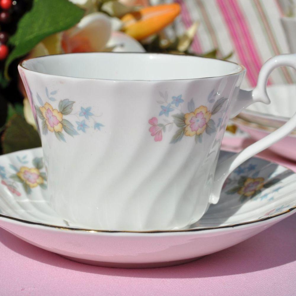 Royal Burlington Gaiety Teacup and Saucer c.1960s