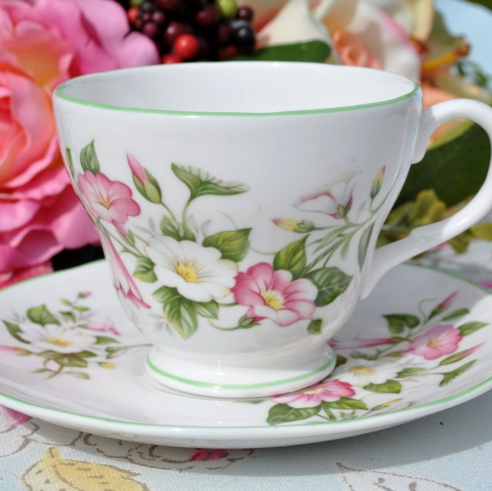 Royal Burlington Morning Glory Teacup and Saucer