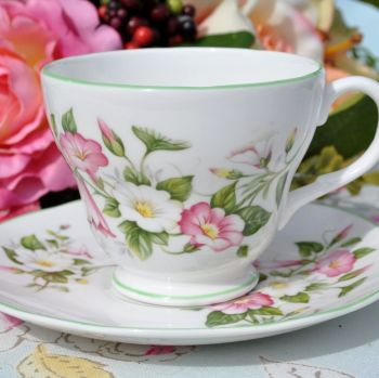 Royal Burlington Morning Glory Teacup and Saucer c.1960s