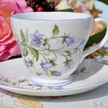 Royal Burlington Harebell Pattern Teacup and Saucer c.1960s