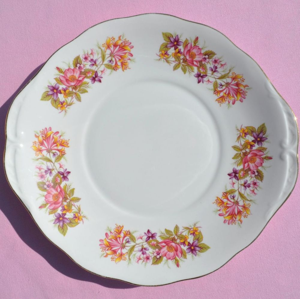 Colclough Wayside Vintage China Cake Plate