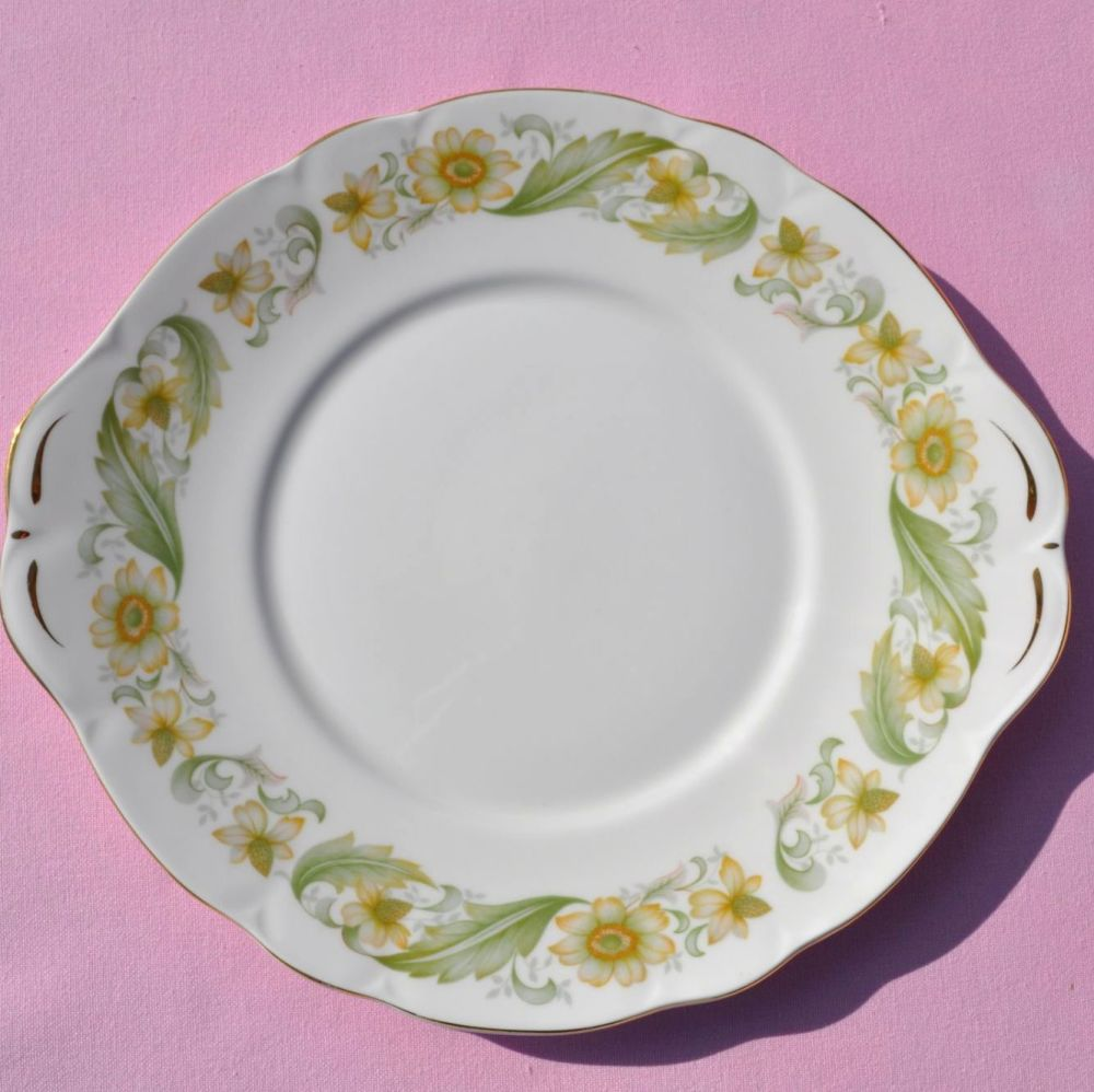 Duchess Greensleeves Vintage Bone China Cake Plate c.1950s