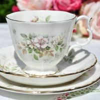 Royal Albert Haworth Vintage China Teacup Trio c.1982+