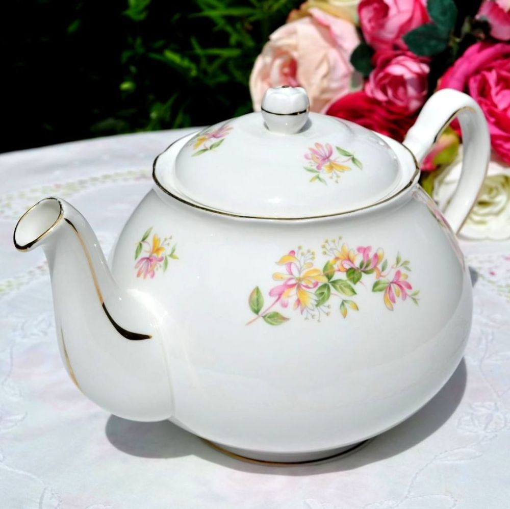 Duchess Honeysuckle Pattern Teapot