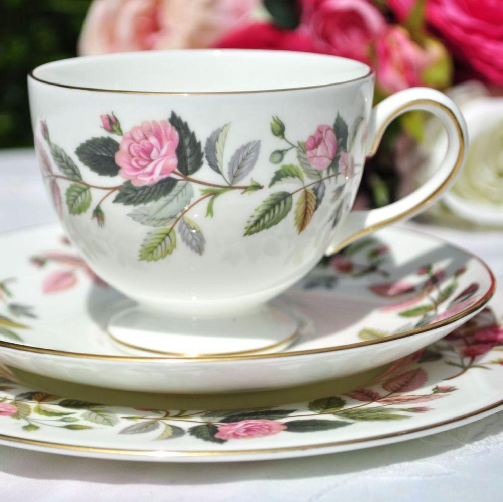 Wedgwood Hathaway Rose Vintage Teacup Trio