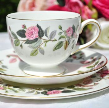 Wedgwood Hathaway Rose Vintage Teacup Trio