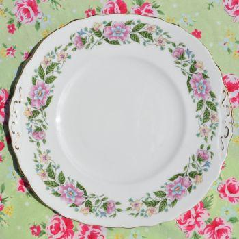 Colclough Floral Cake Plate