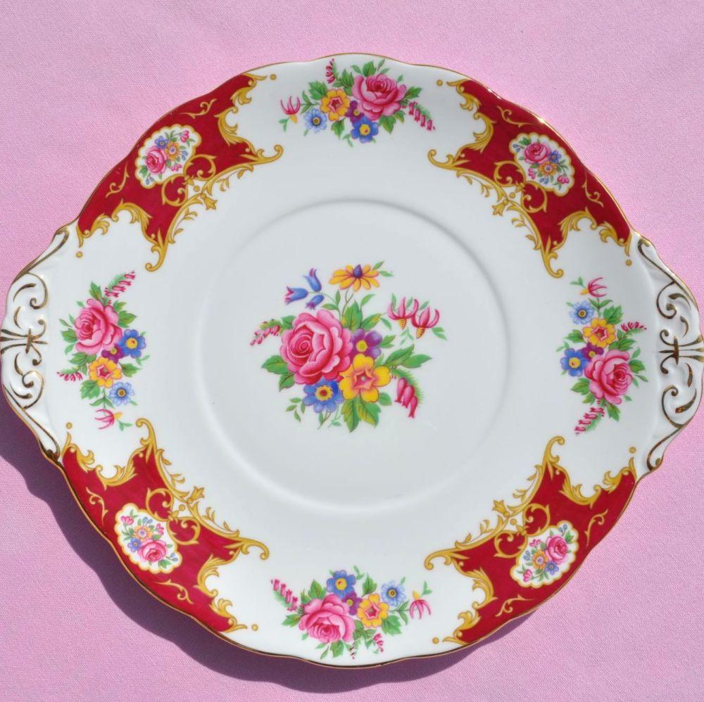 Royal Standard Lady Fayre Vintage Fine Bone China Cake Plate c.1950s