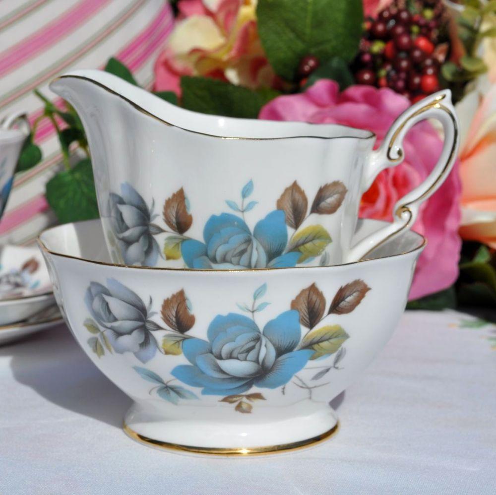 Royal Standard Blue Mist Vintage Sugar Bowl and Creamer