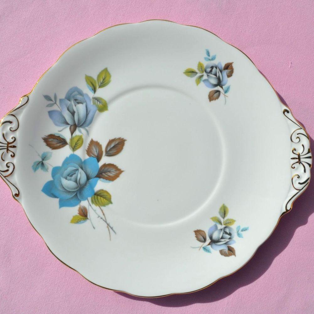 Royal Standard Blue Mist Vintage Cake Plate
