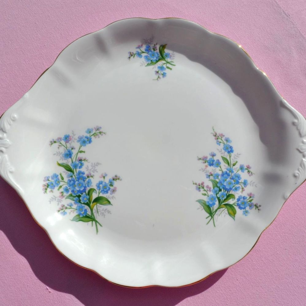Royal Albert Forget-Me-Not Vintage China Cake Plate c.1950's