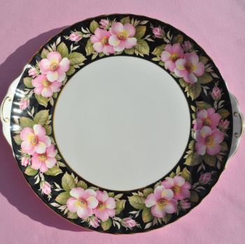 Royal Albert Provincial Flowers Gateau or Celebration Cake Plate c.1975
