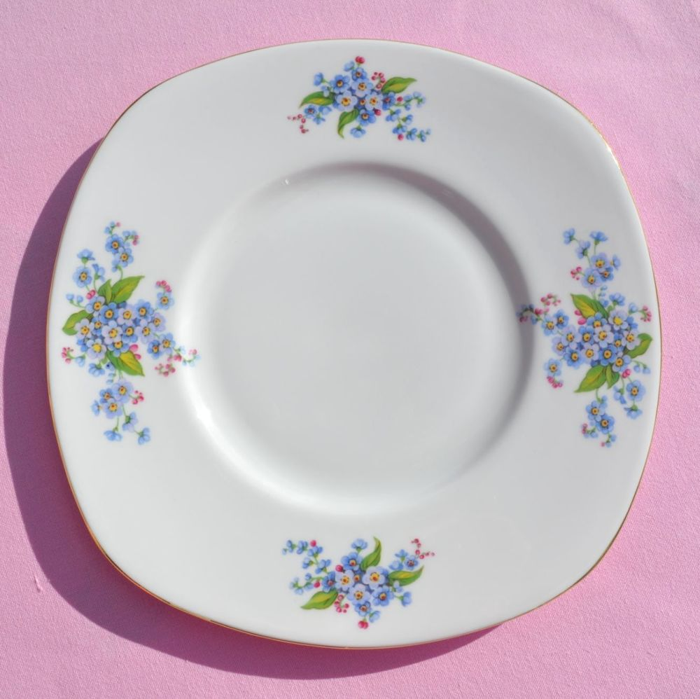 Tuscan Forget-Me-Not Fine Bone China Cake Plate c.1940's