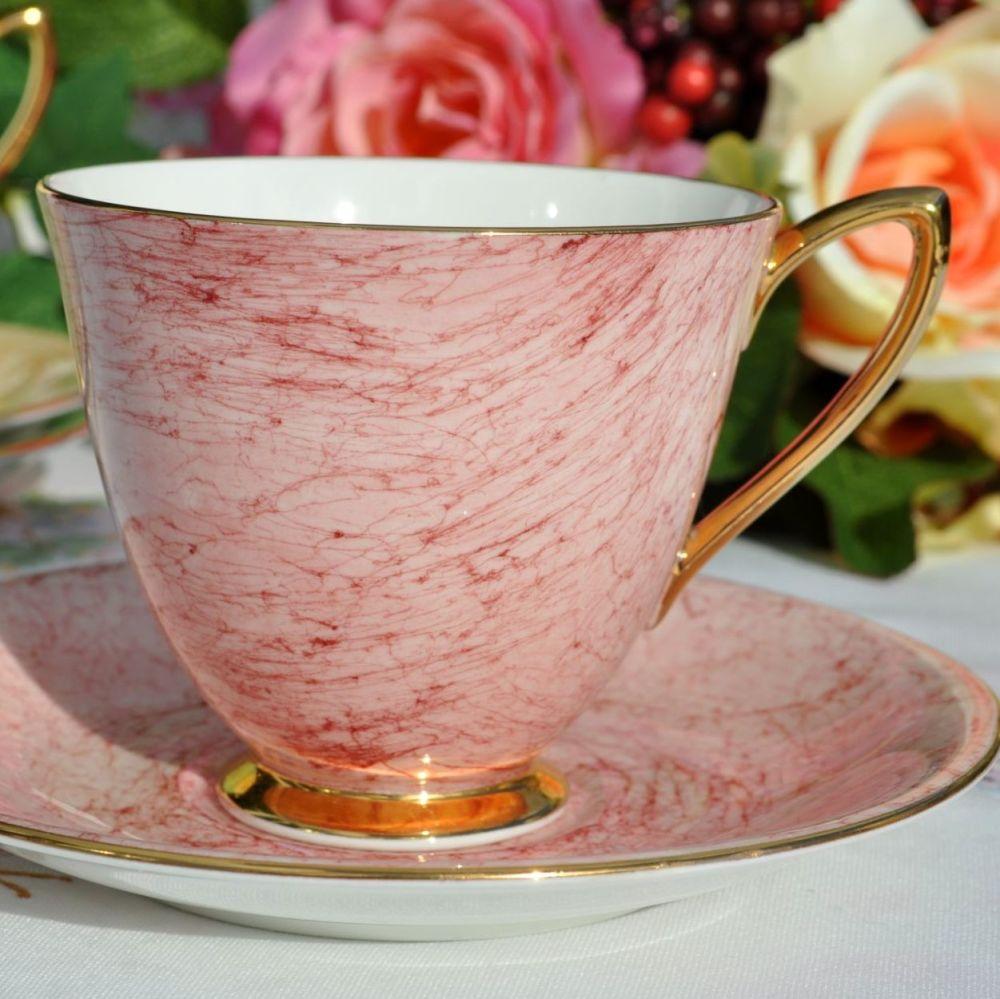 Royal Albert Gossamer Pink China Teacup and Saucer c.1950's