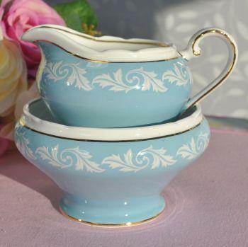 Aynsley Jasperware Style Milk Jug & Sugar Bowl